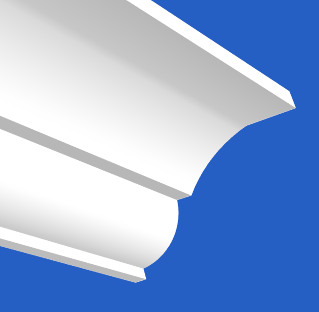 Cornice with Clean Curve's and a separating Line