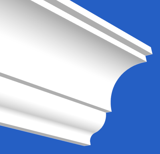 Eagle Cornice Inverted curves with sharp lines