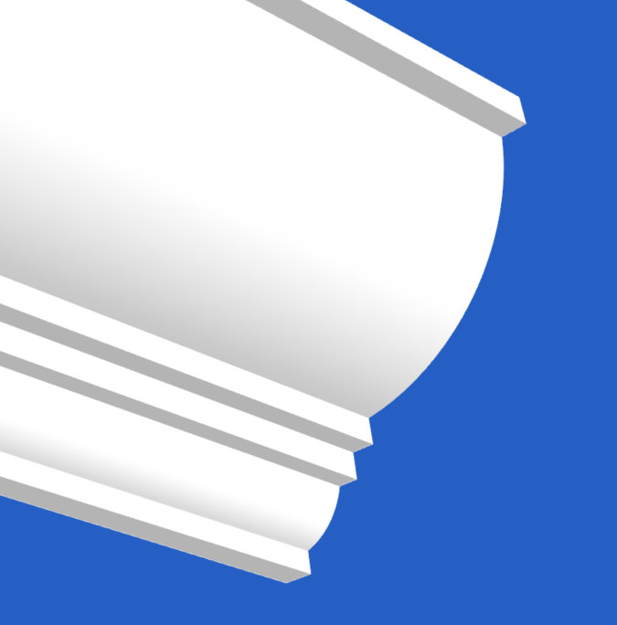 Beautiful Cornice with soft curves and sharp lines