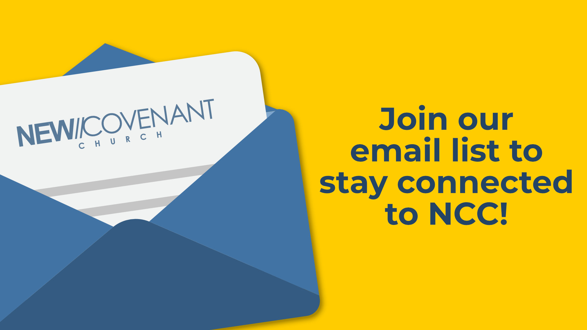 Join our email list to stay connected to NCC