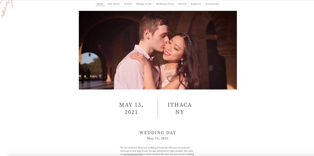 How to add your virtual wedding link to The Knot, Zola, WeddingWire, and Squarespace website?