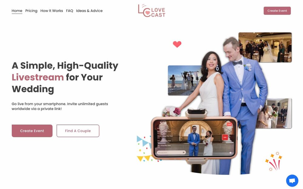 live stream for elopement
