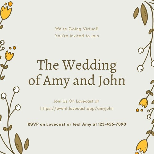 How to Send Your Virtual Wedding Invitation