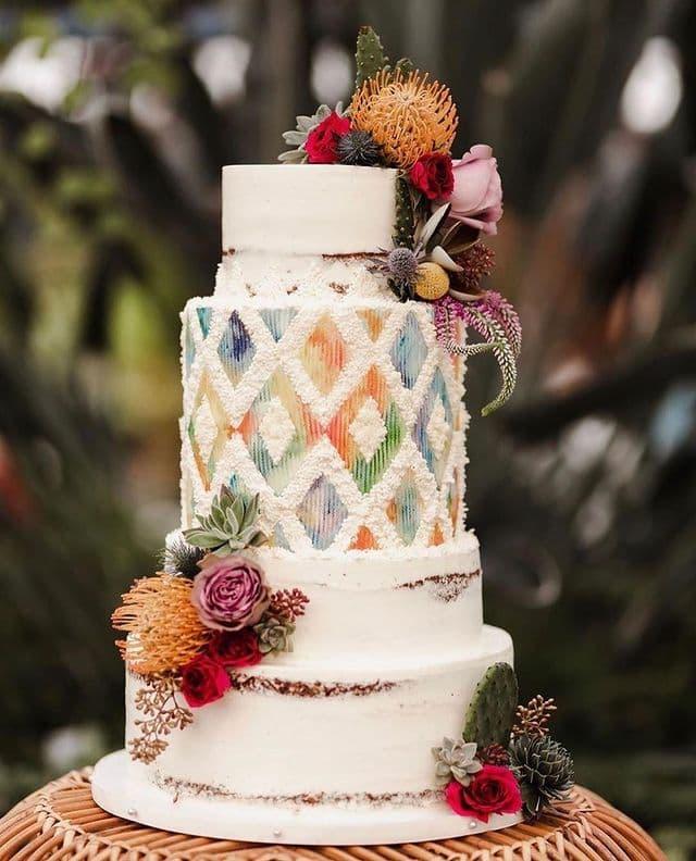 cake for summer wedding