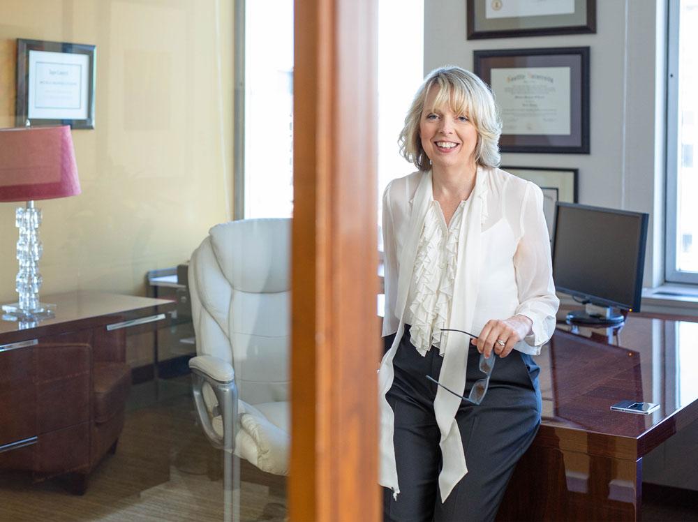 Michelle O'Loane in her office.