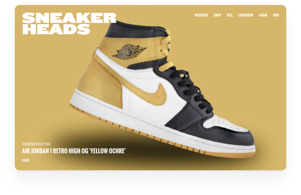 Marketplace example: buy and sell sneakers