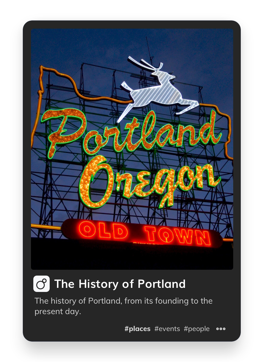 Picture of a Portland Sign