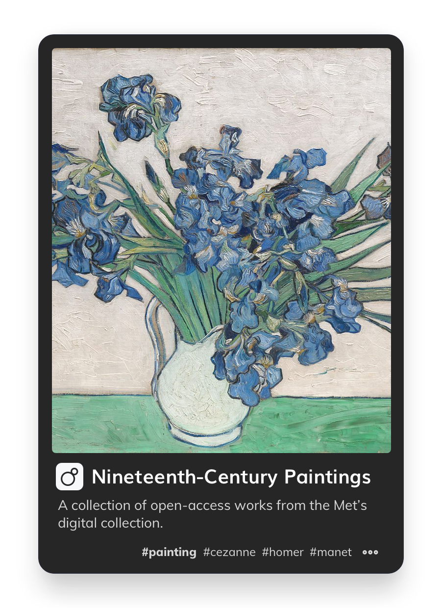 Image of a paint with flowers