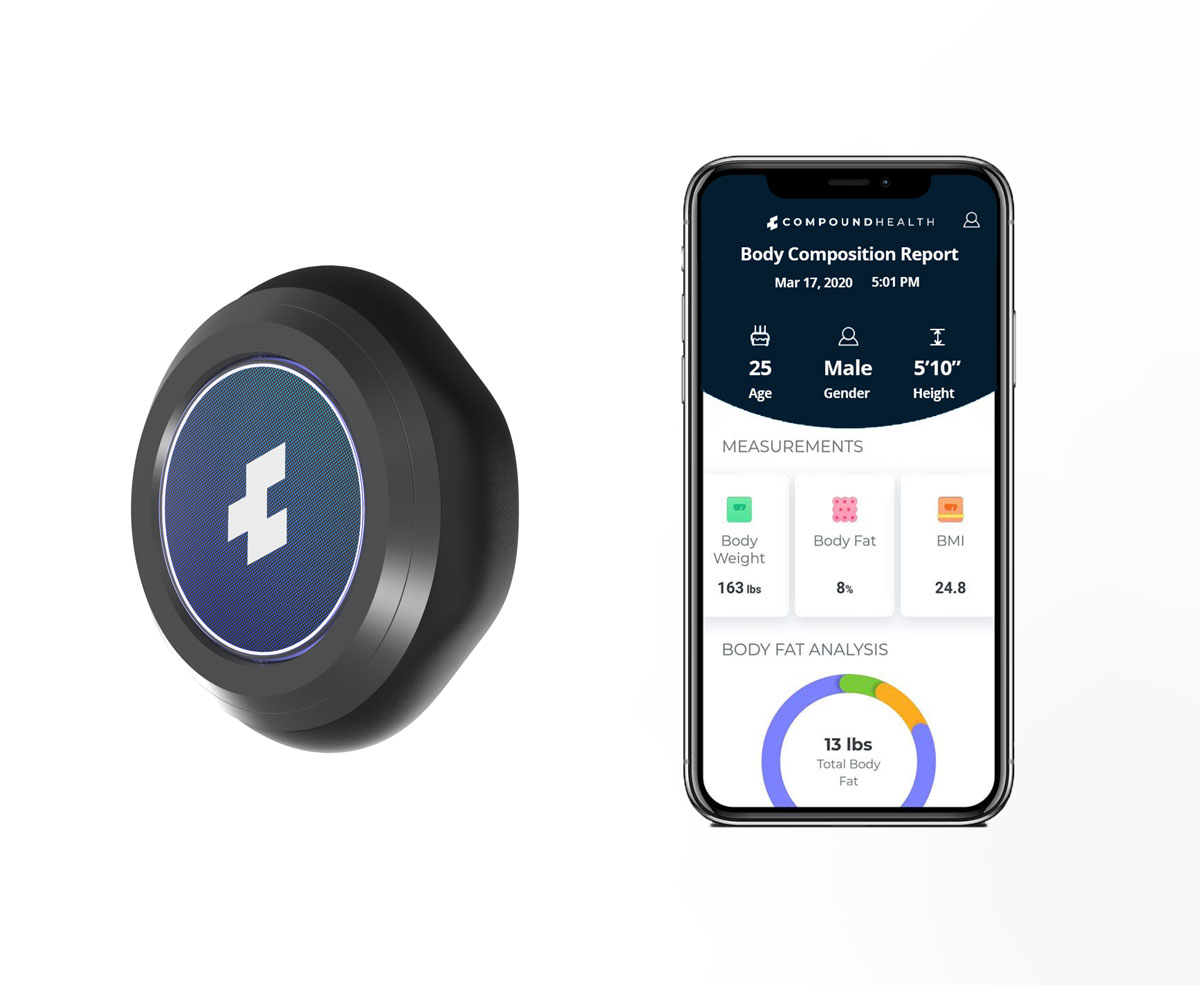 Compound health device and app in action
