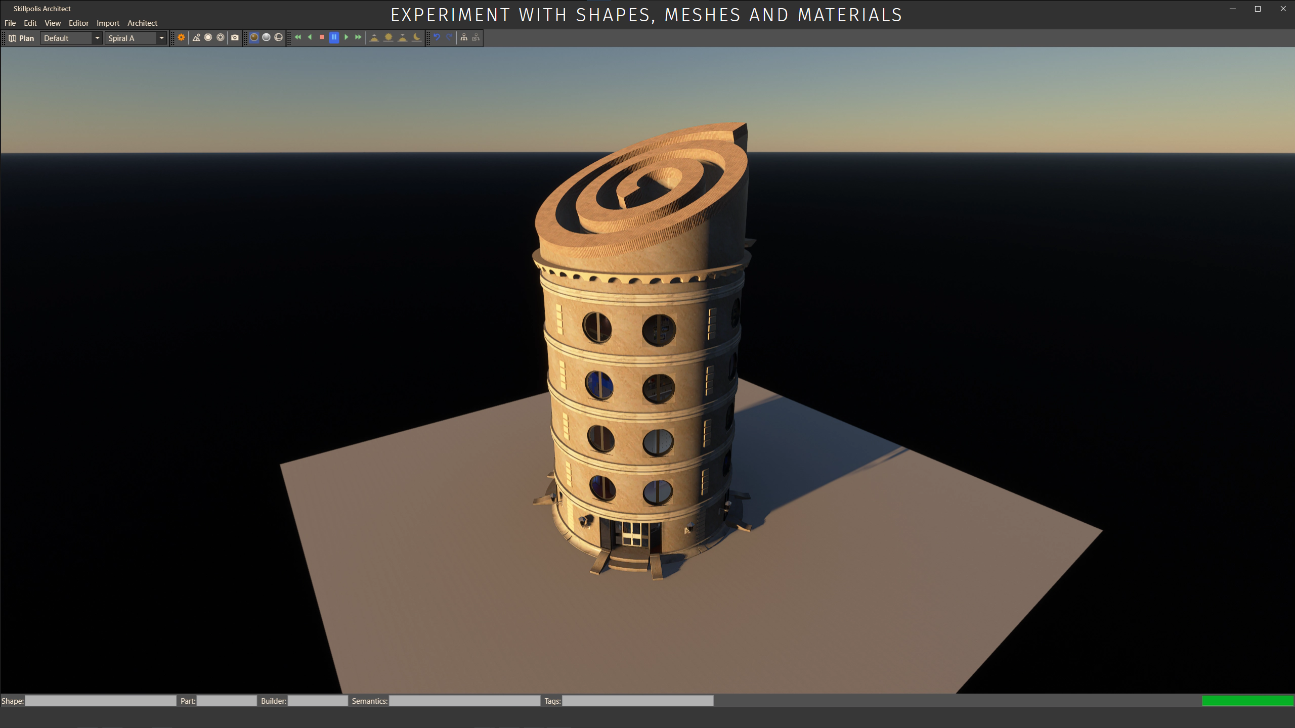 skillpolis shapes meshes materials