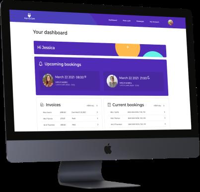 Dashboard screen and rota