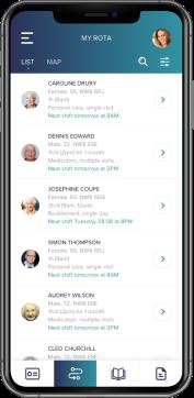 CAir:ID app on iOS device