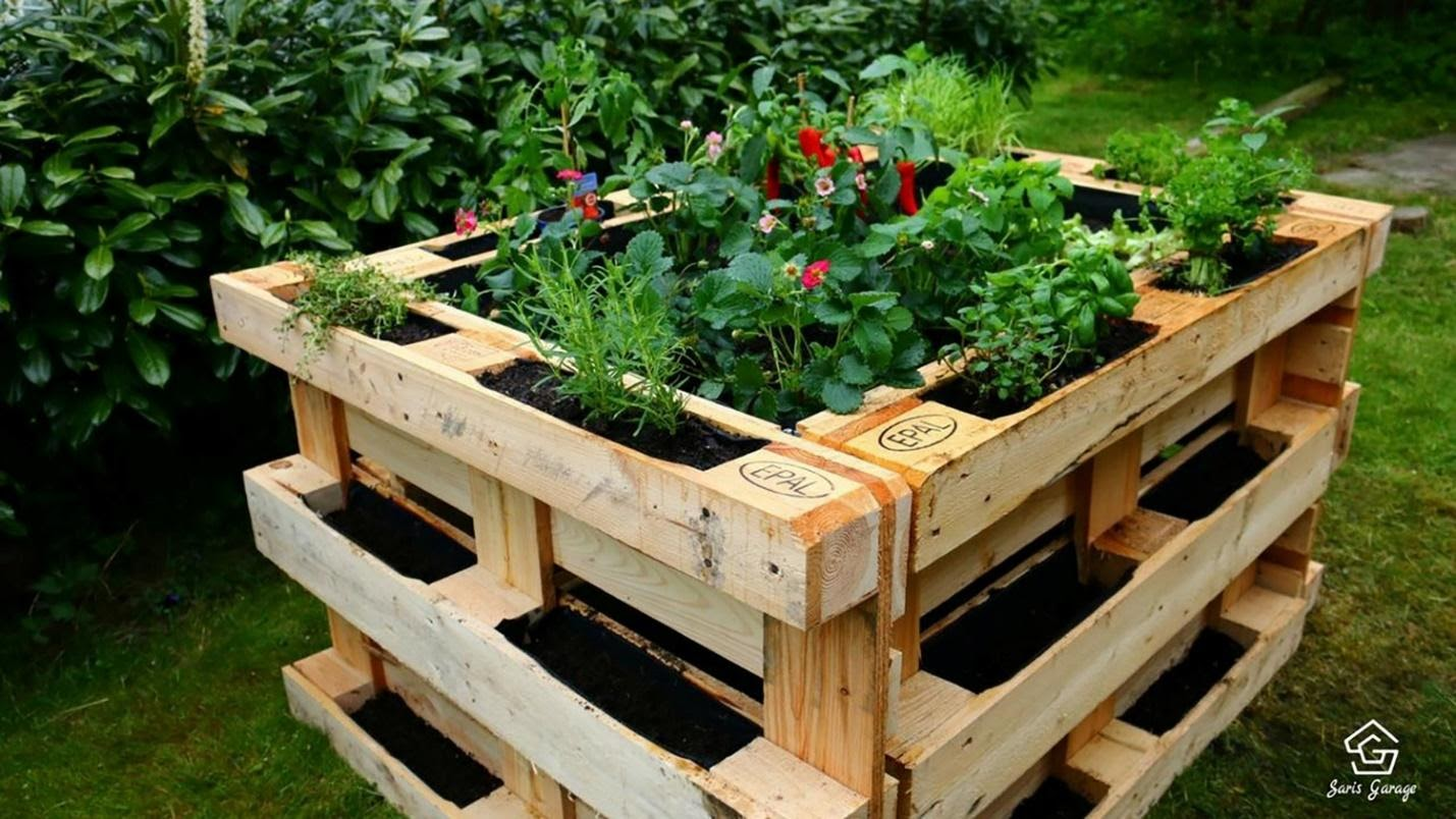 Create Raised Beds with Old Pallets