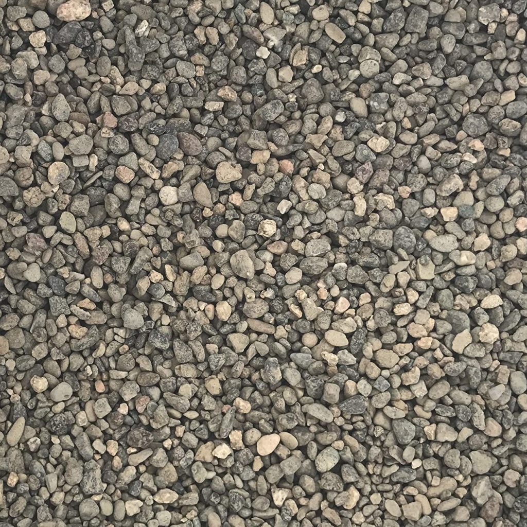 pea gravel being used in landscaping