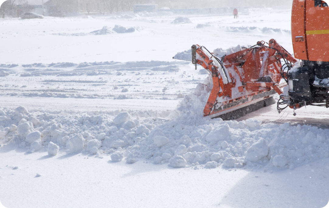 Snow plowing company near you