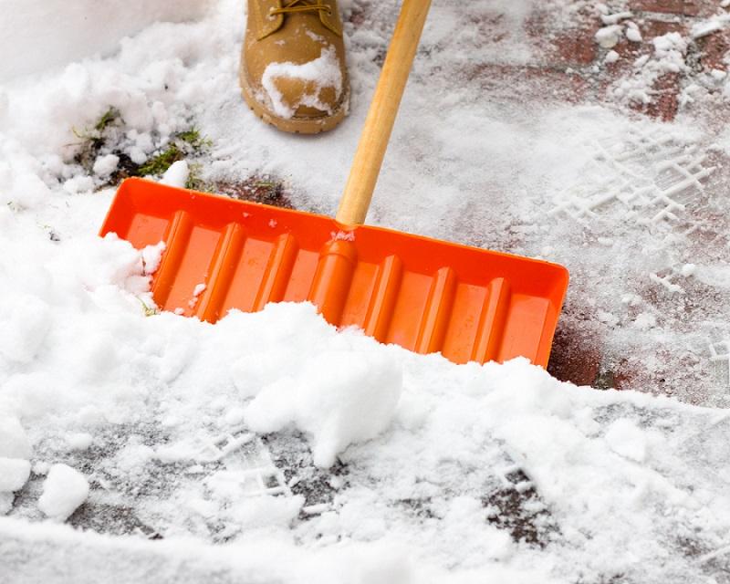 Snow shoveling service
