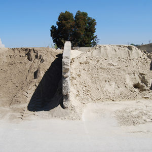 Sand should be used to stabilize areas or mixed with other soils to improve drainage.
