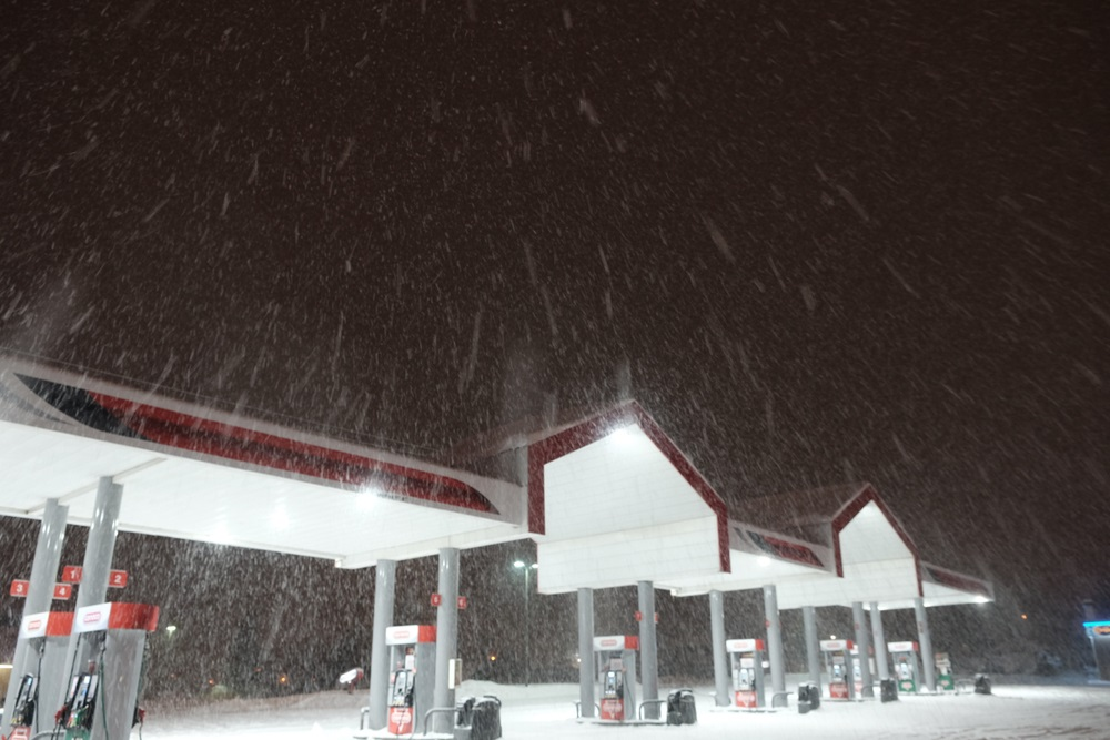 gas station snow and ice management