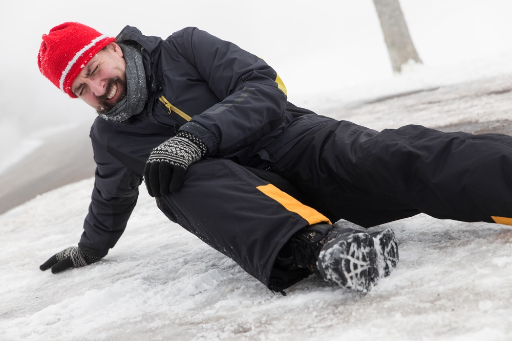 slipping on the ice