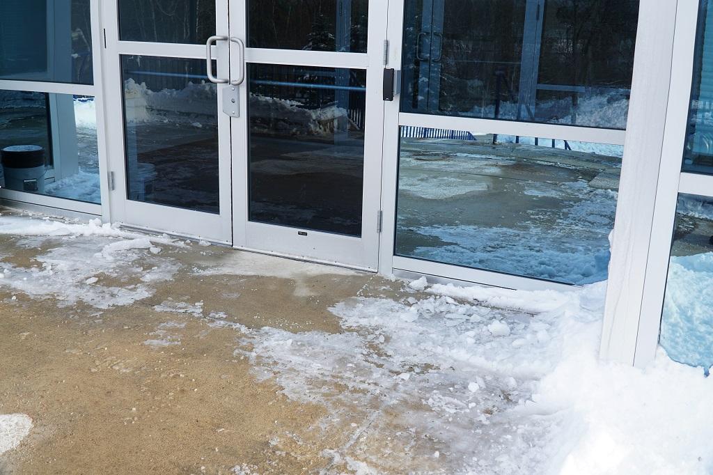 Secure Entrances and Exits for Winter Building Management