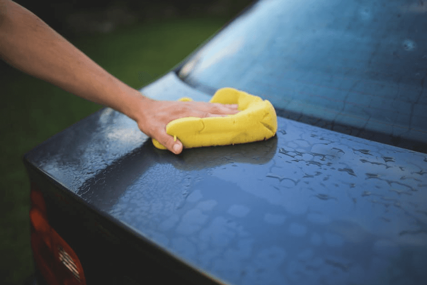 protect car in winter with washing