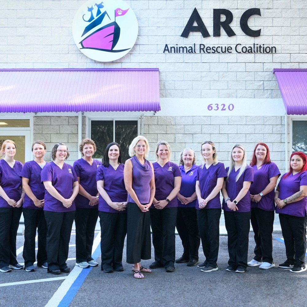 ARC team standing outside of the clinic