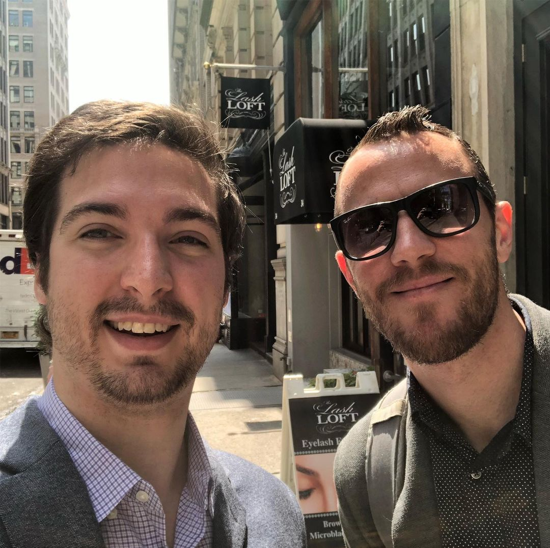 Joshua Kovacs and Joseph Sexton of Oakscale in front of a franchisor.
