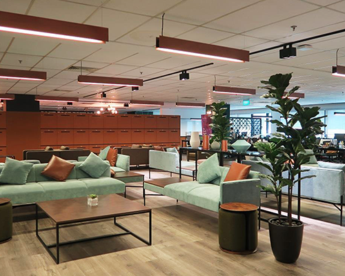 Image of the office space  in the F10 Singapore hub.