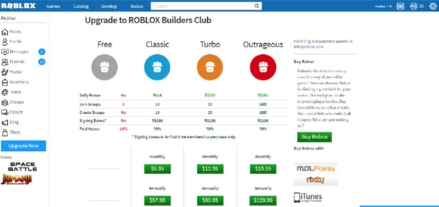 Earn robux on roblox