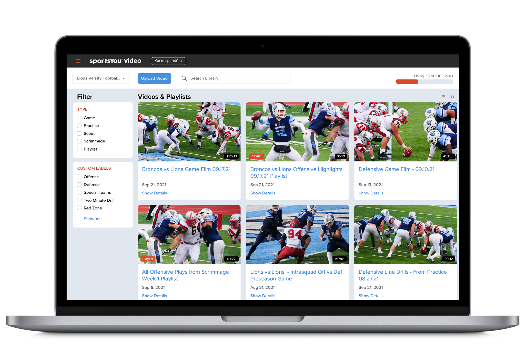 sportsYou Video Media Library
