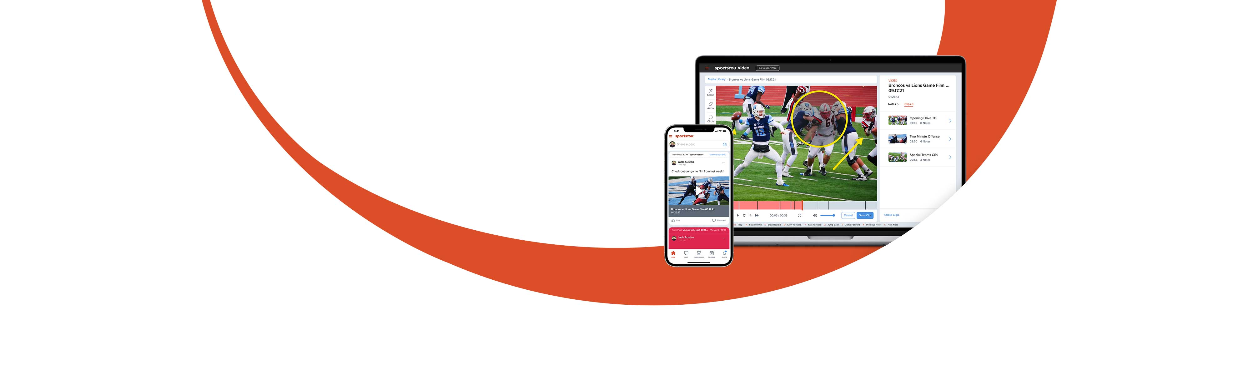 sportsYou and sportsYou Video apps on mobile and desktop.