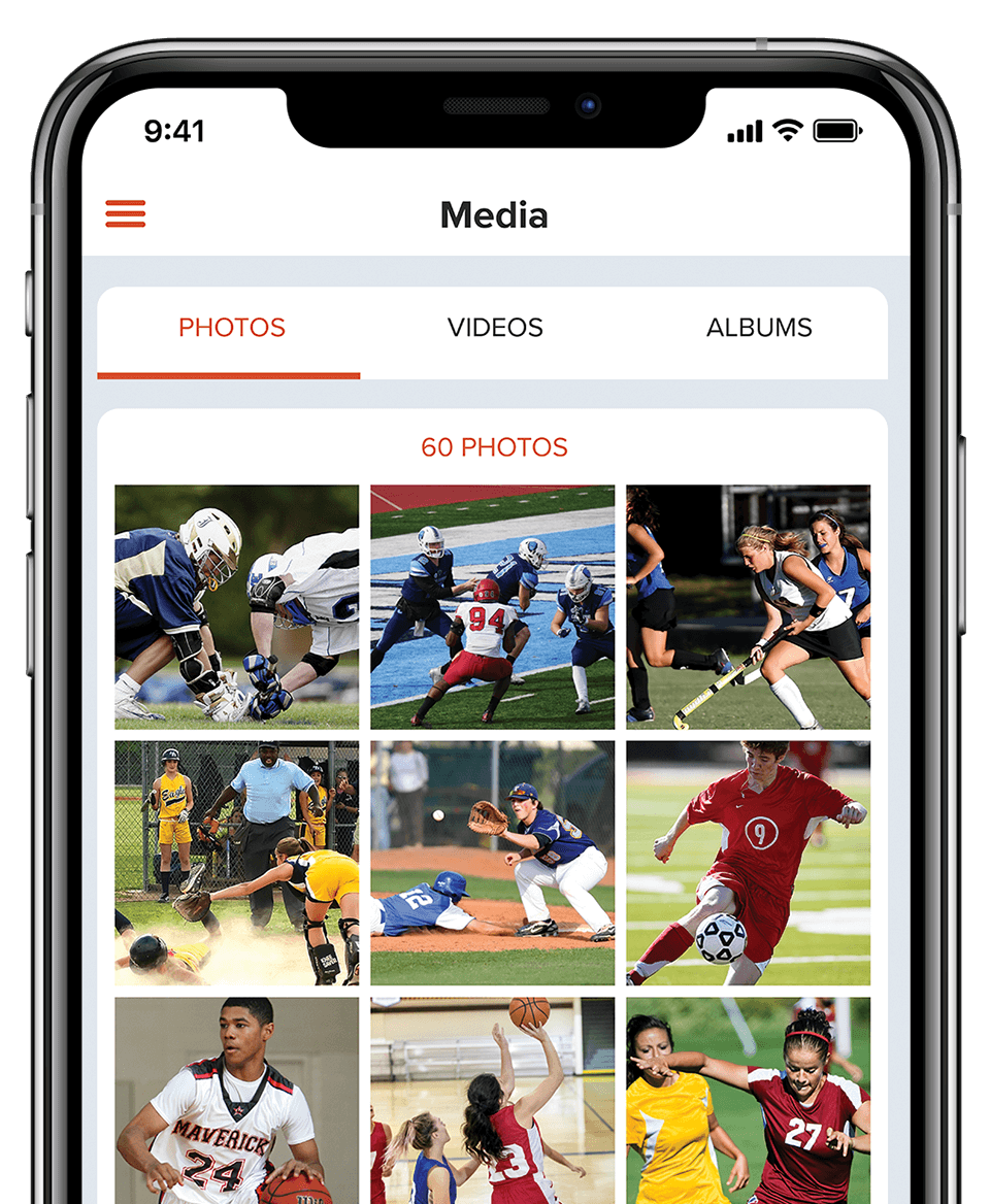 sportsYou Media to upload, save, and share images and videos to friends or team/group members