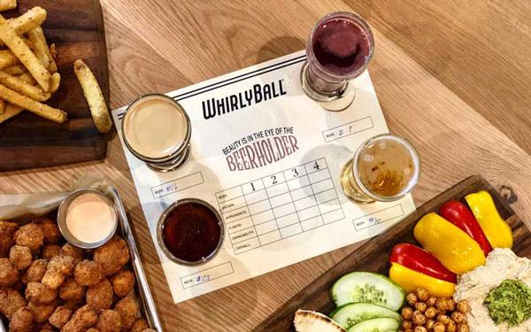 Craft Beer Flights at WhirlyBall