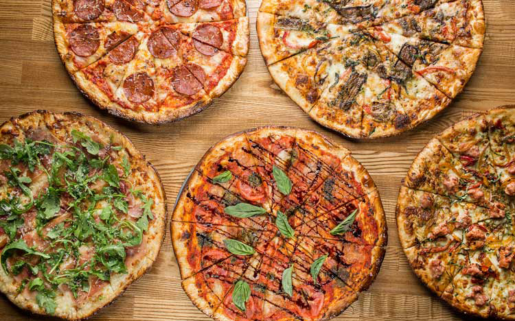 Craft pizzas at the Pivot Room