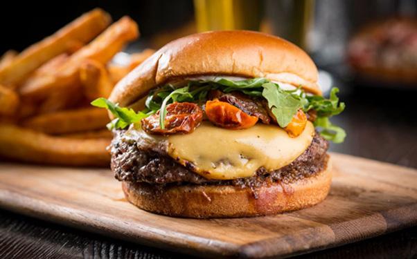 Juicy Burger and Fries