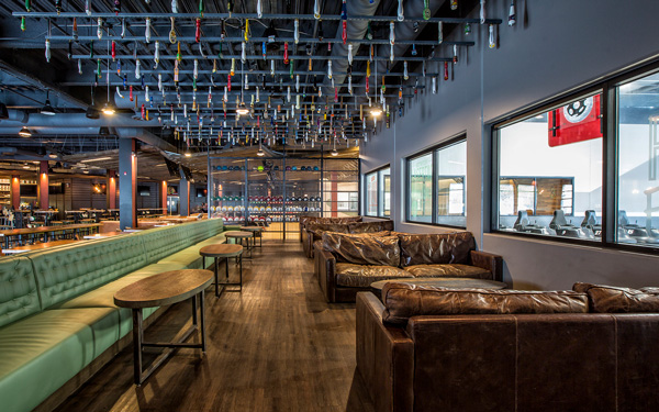 WhirlyBall Chicago casual seating for special events