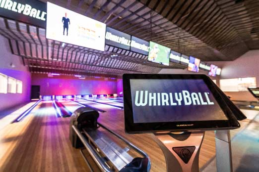 Bowling alley at WhirlyBall