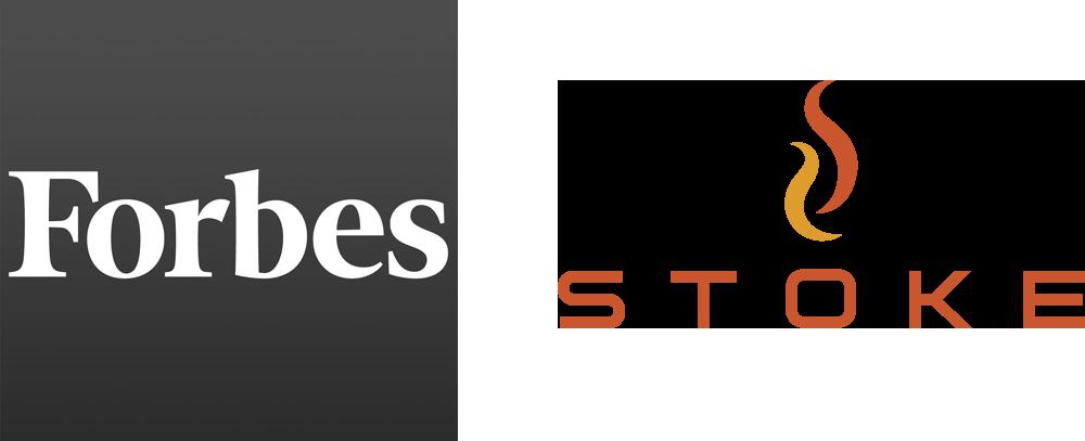 Forbes logo and STOKE logo
