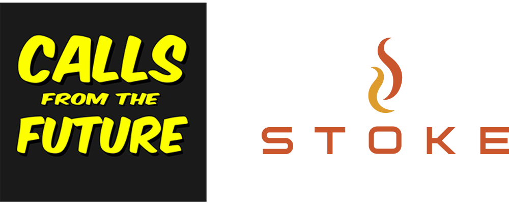 Calls from the Future logo and STOKE logo