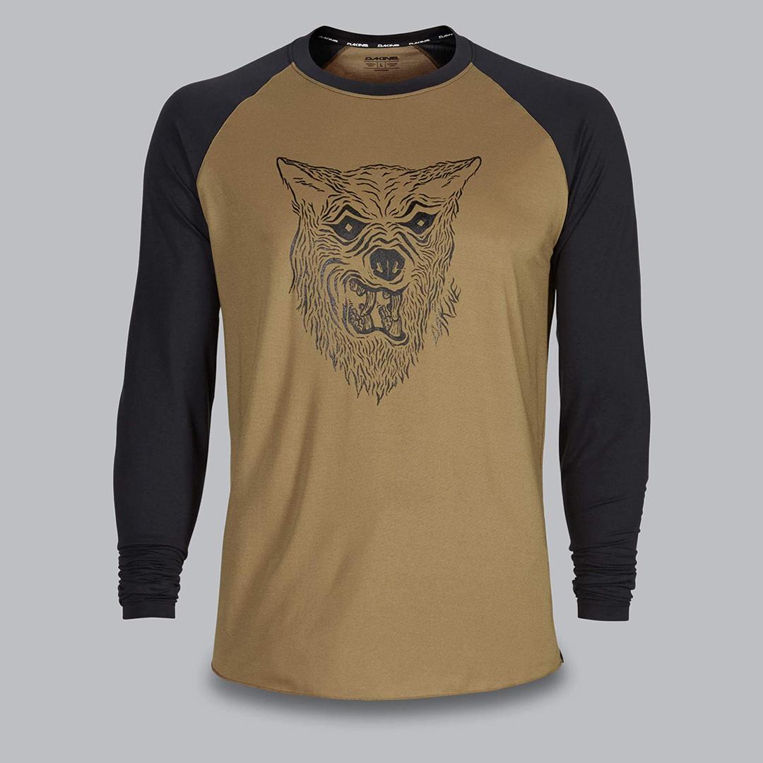 Dakine bike jersey wolf illustration