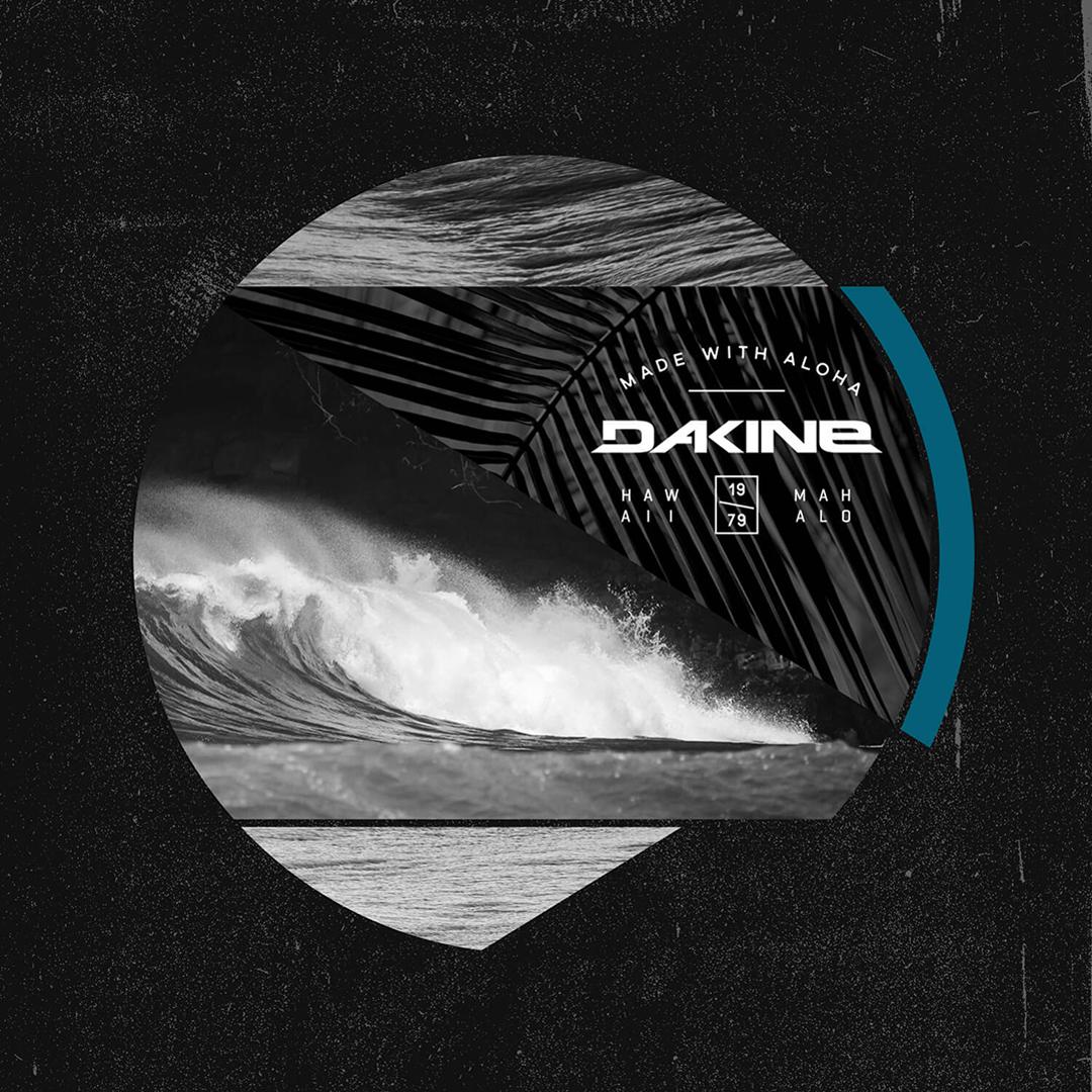 Dakine photo collage surfing wave apparel t-shirt graphic design