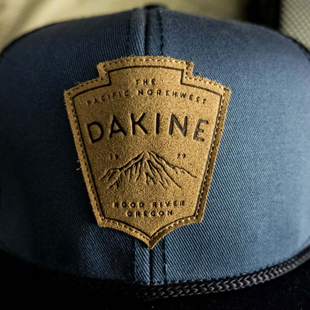 Dakine snapback hat mt. hood patch hood river, oregon leather design