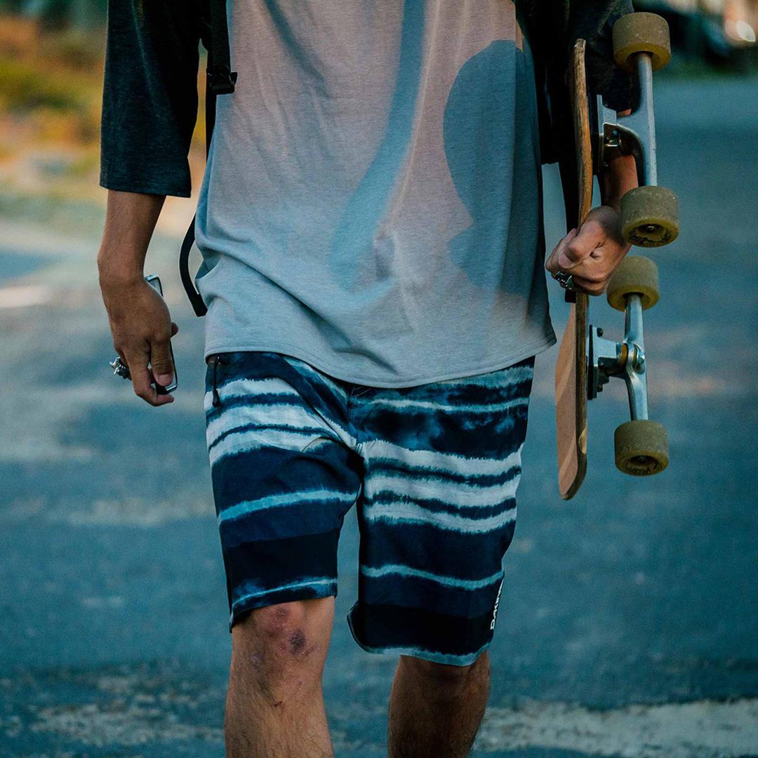 Dakine boardshorts resin pattern design surfing apparel