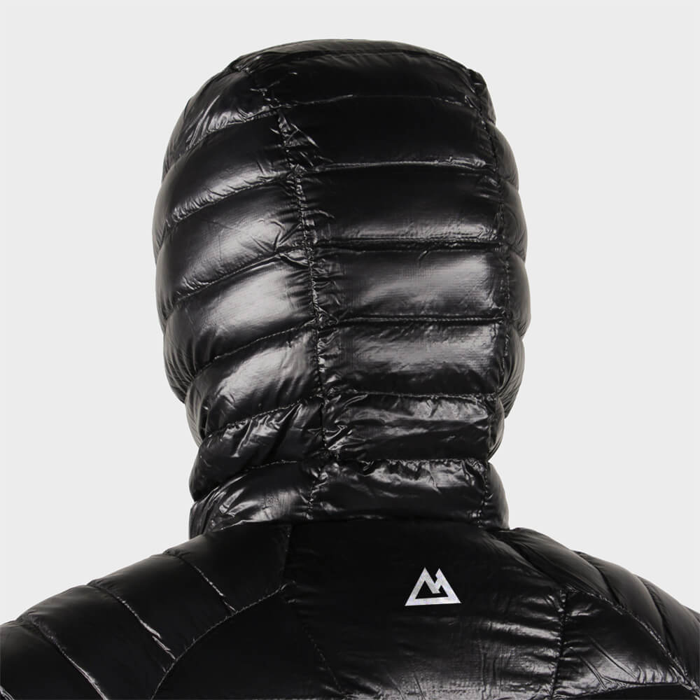 Mountain Hardwear logo identity design back of puffy jacket