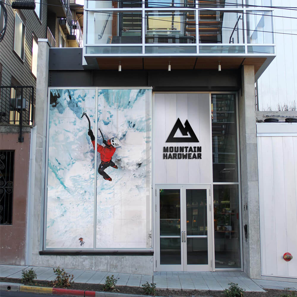 Mountain Hardwear store front graphics design