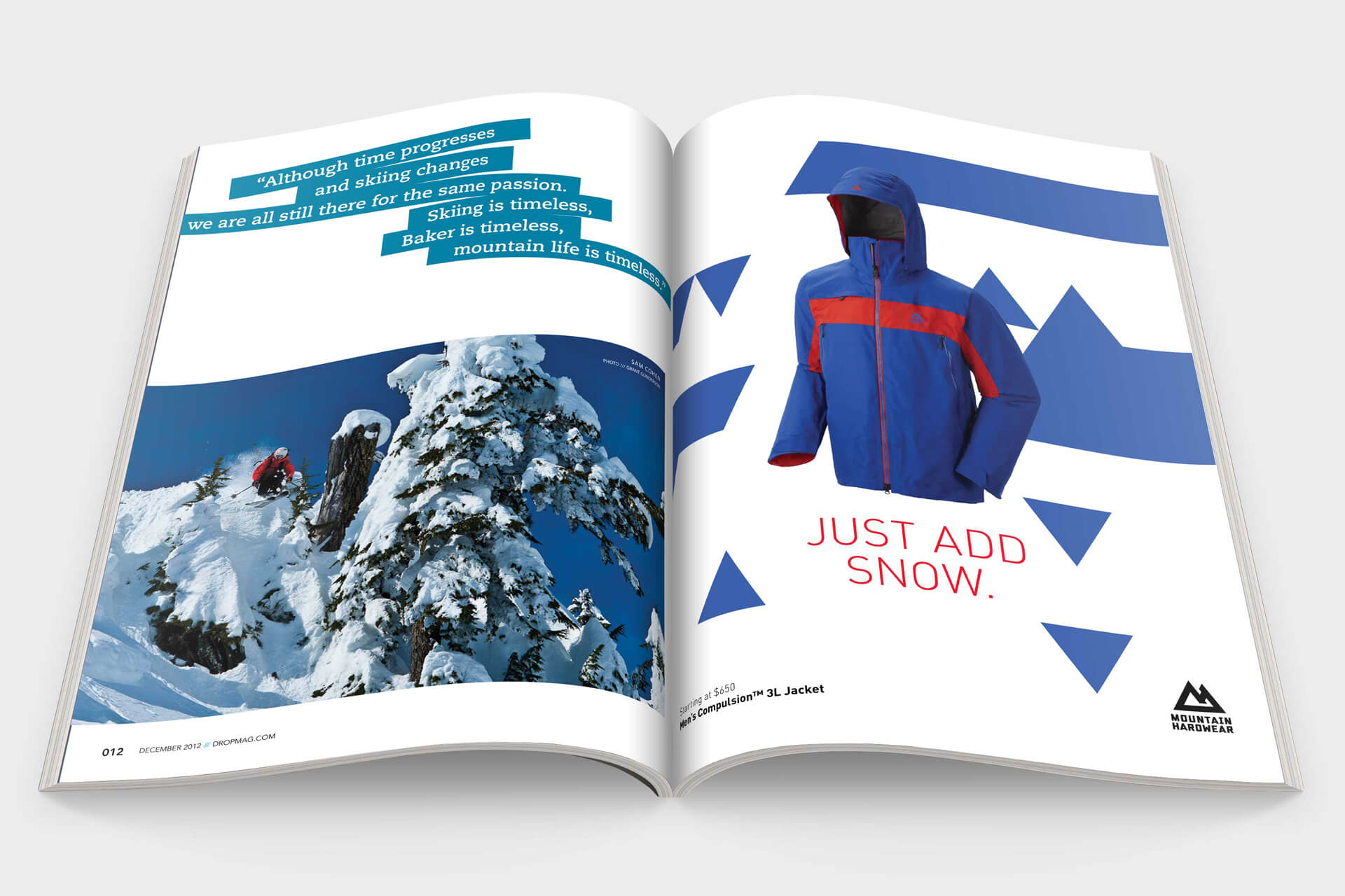 Mountain Hardwear magazine layout design