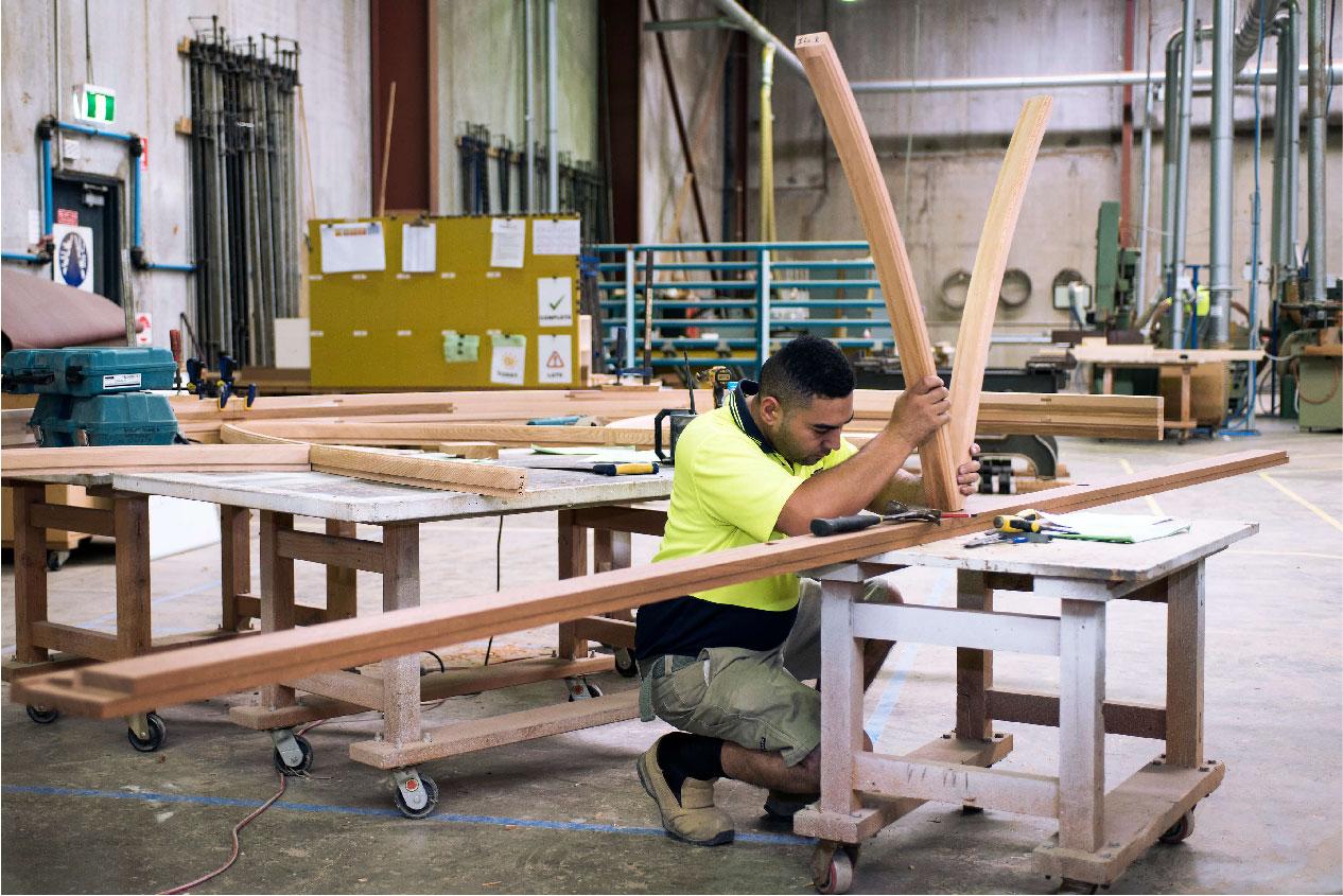 Man Creating Timber Windows & Doors