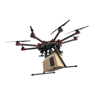 DJI M6600 delivering pacakge using FlytZip's drone delivery system