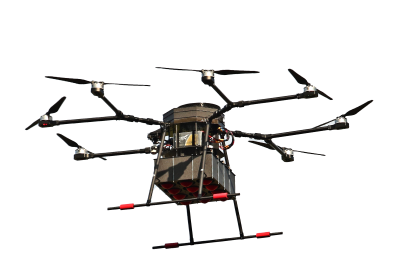 Custom drone compatible with FlytZip: drone delivery system