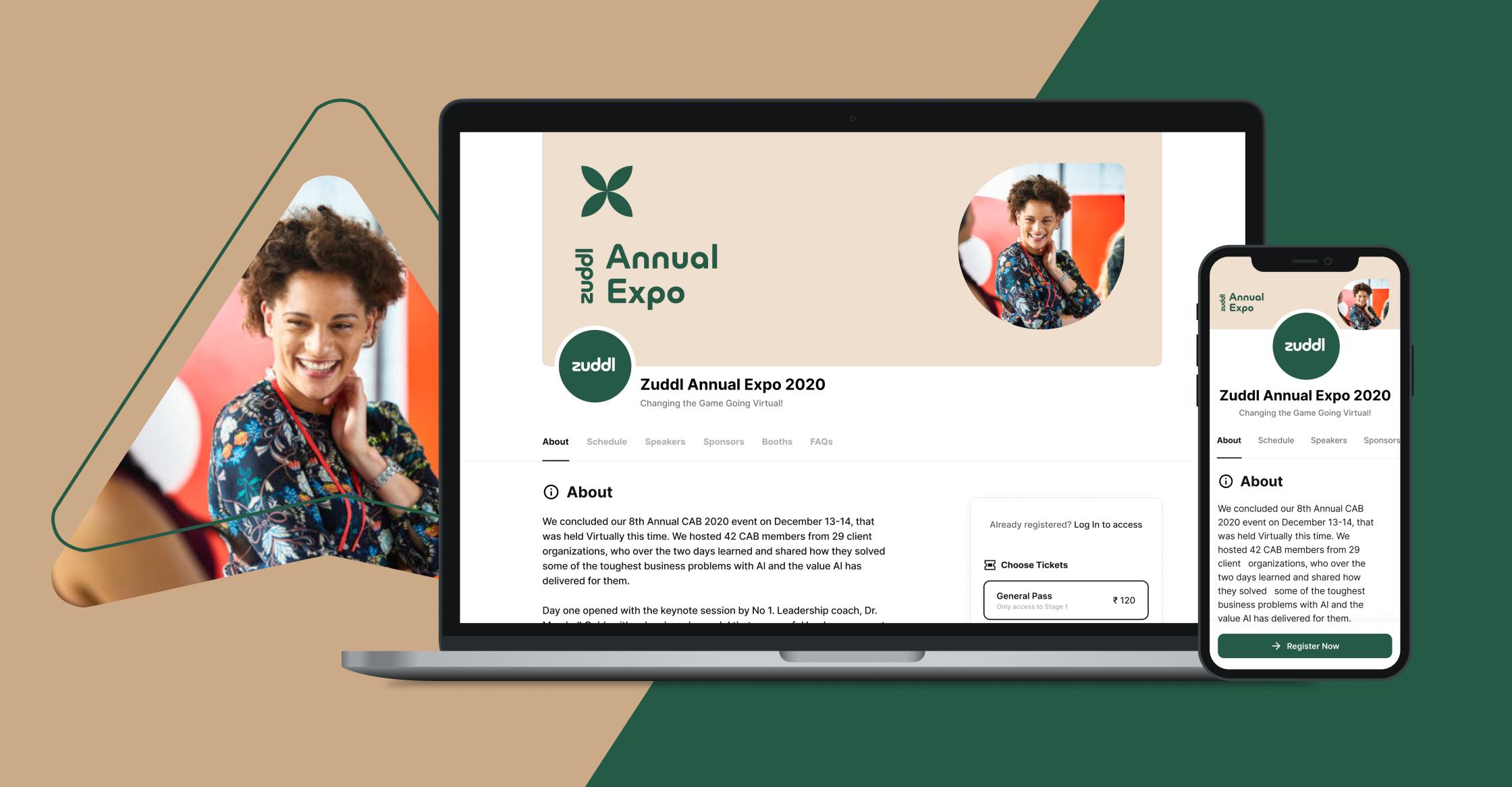 Zuddl Graphic Homepage